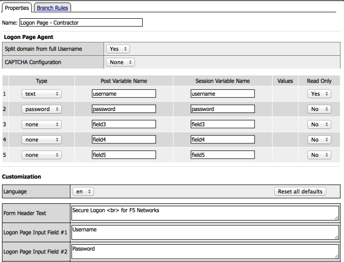 Contractor Logon Page Action